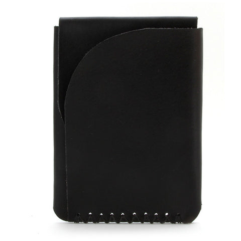 Minimal leather card holder, English Bridle Leather