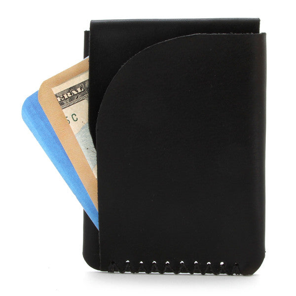 Minimal leather card holder, English Bridle Leather With Cards