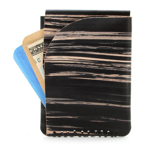 Made in usa veg tan slim wallet with cards