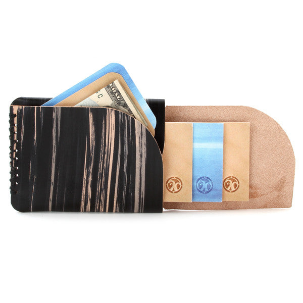 hand dyed veg tan slim card holder