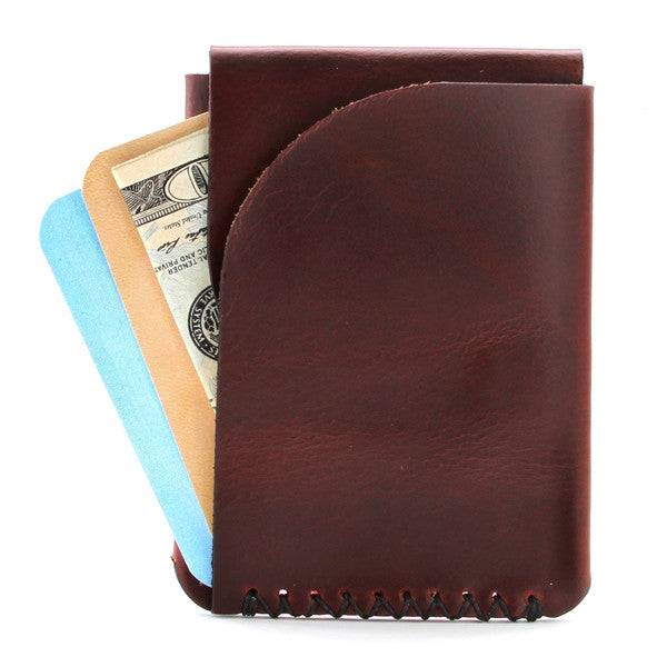 Brown Horween Chromexcel Made in USA leather wallet with cards