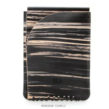 Load image into Gallery viewer, Hand Dyed leather monogrammed wallet