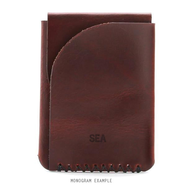 Horween monogrammed card holder