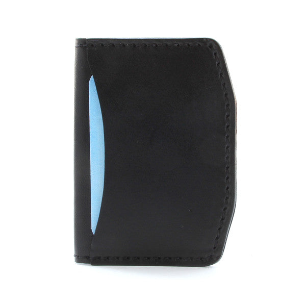 Black English bridle minimal wallet
