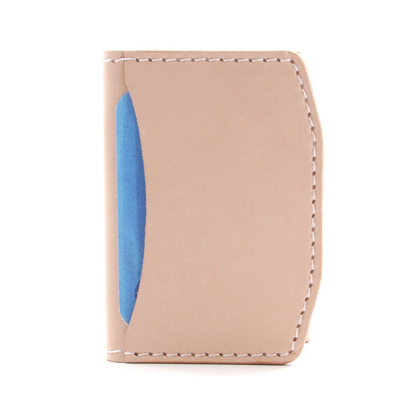 veg tan slim front pocket wallet
