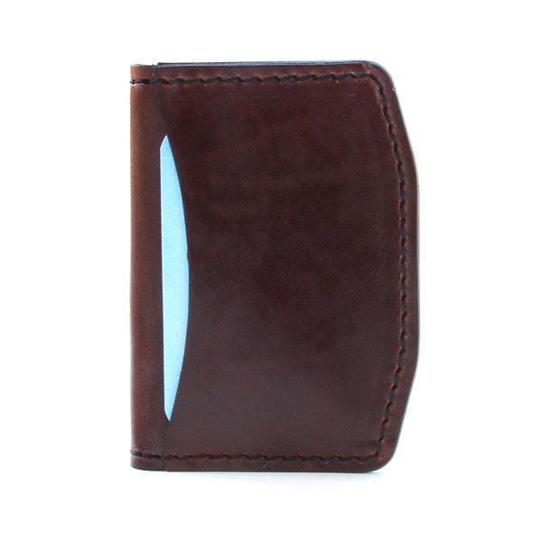 Brown horween chromexcel front pocket wallet