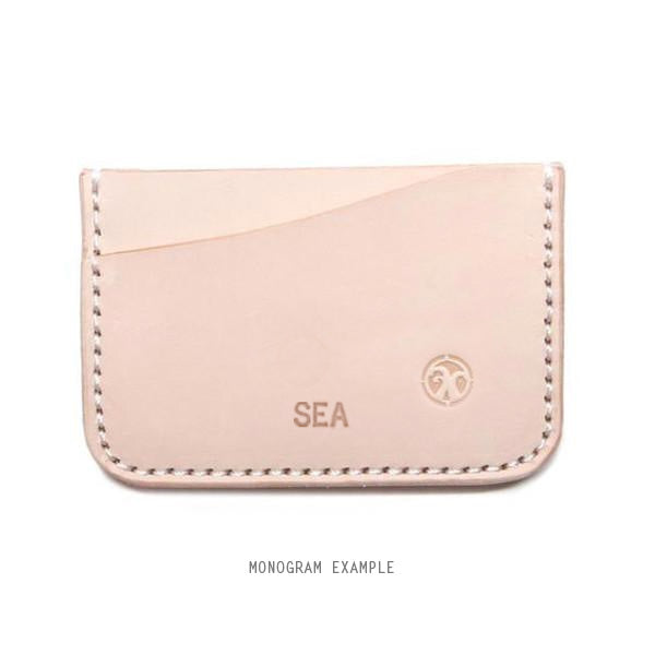 monogram veg tan minimalist card holder