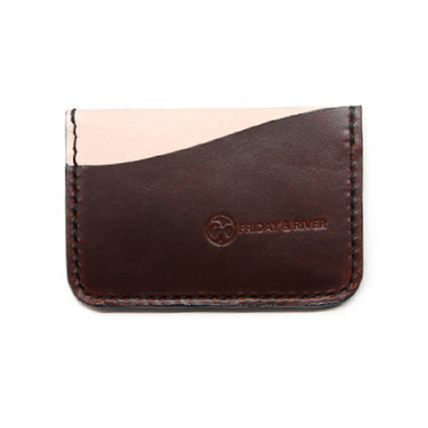 Brown Horween Minimalist Card Wallet