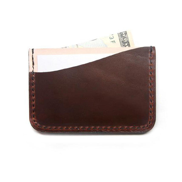 Slim Brown Horween Card Case Made in USA