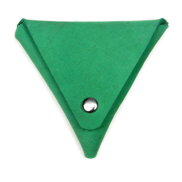 Green Leather Coin Pouch