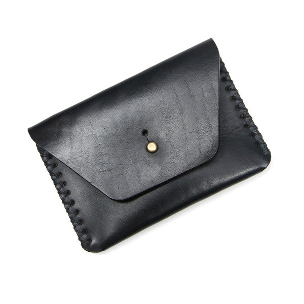 Made in USA black leather pouch