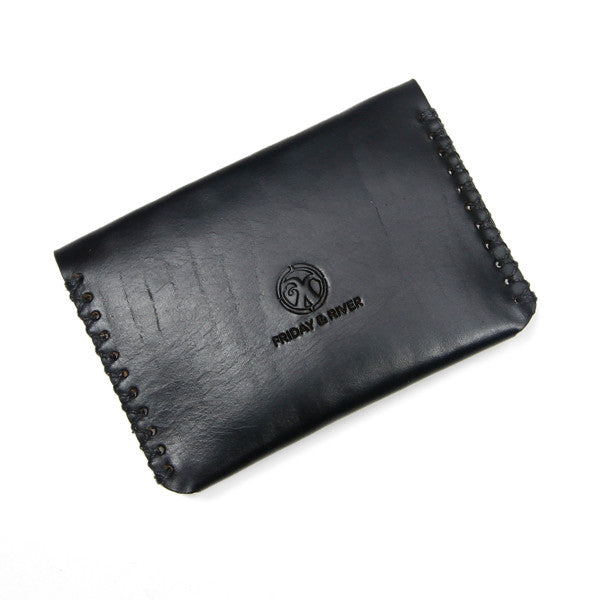 black leather horween wallet