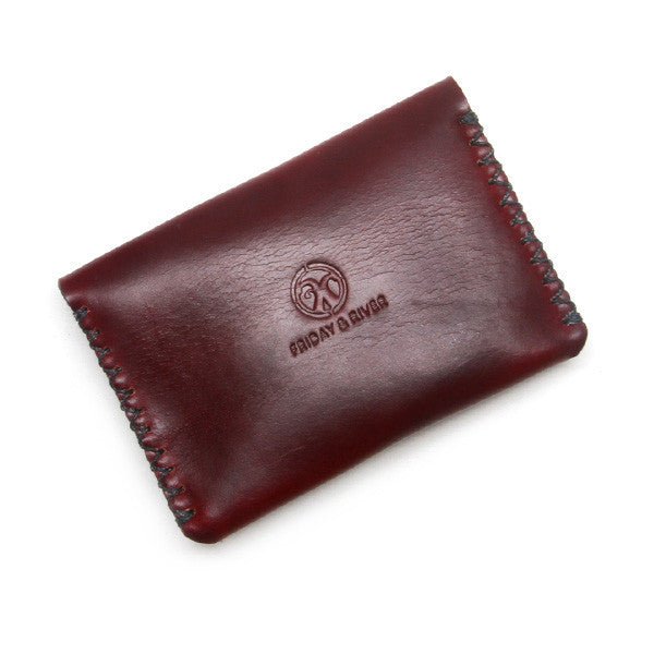 Burgundy horween leather wallet