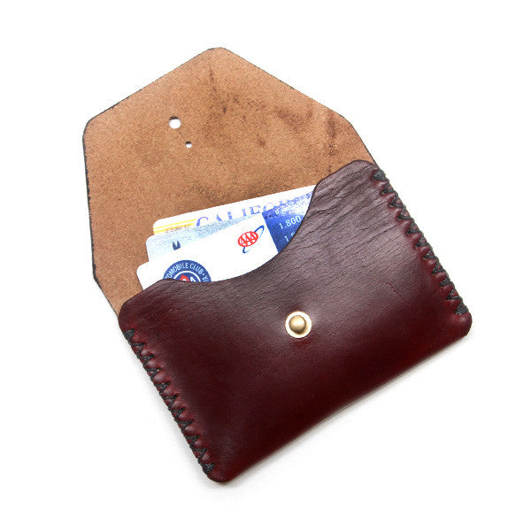 burgundy horween leather pouch
