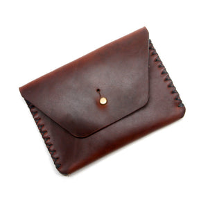 Brown chromexcel leather wallet