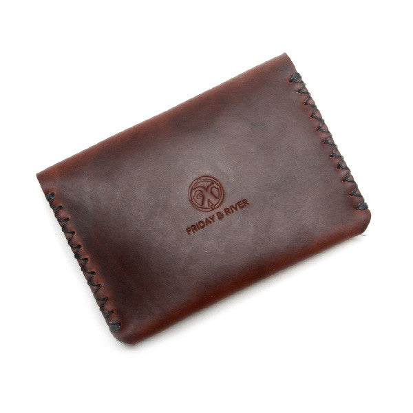 Brown horween chromexcel card wallet