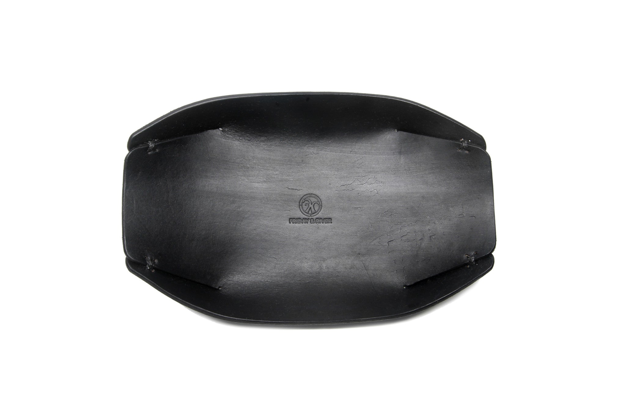 Japanese valet tray black top view