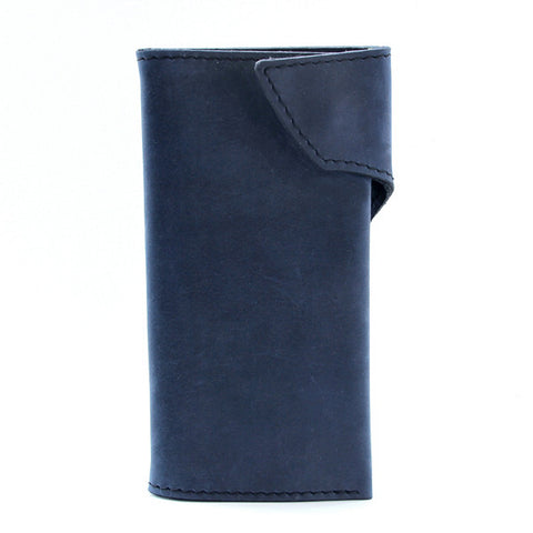 Blue Indigo Leather Long Wallet