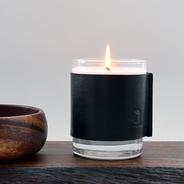 Woodland Cabin Soy Candle with wood