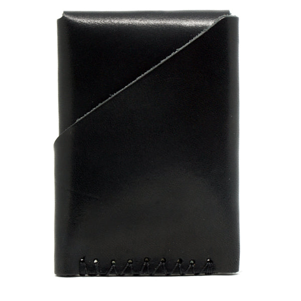 Minimal leather wallet black back