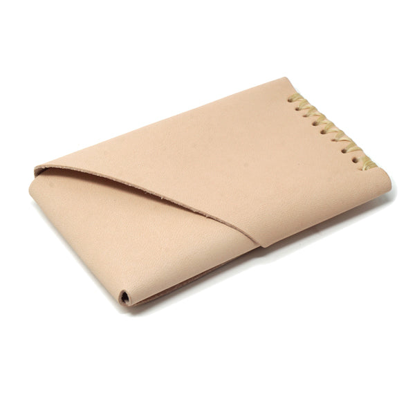 Minimal leather veg tan EDC wallet card holder back card slot