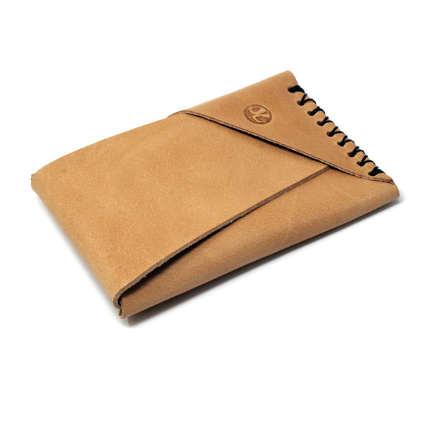 Minimalist whiskey EDC leather wallet made in usa with closure