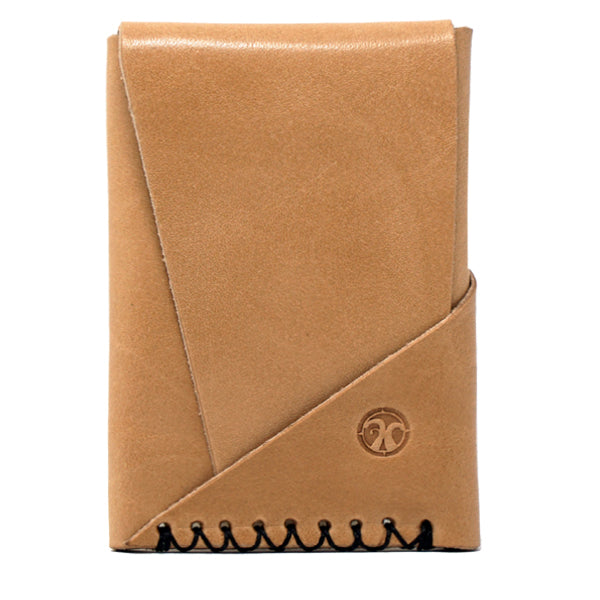 Minimalist EDC Leather Front Pocket Wallet Whiskey Front