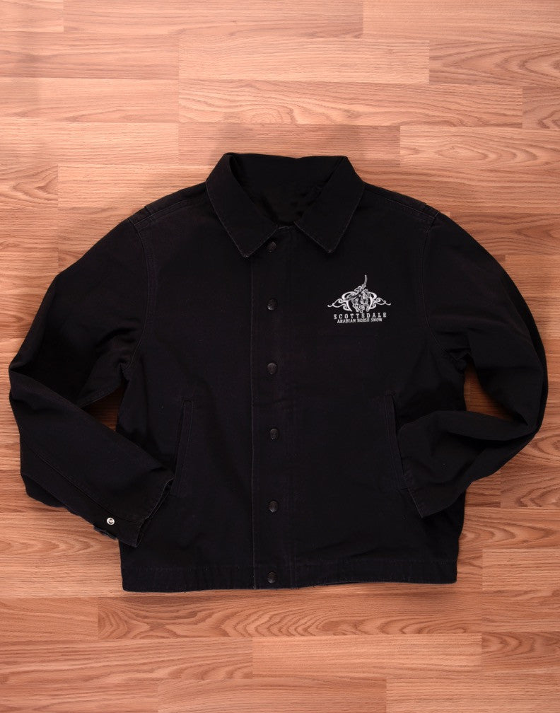 Men's Black Debossed Jacket
