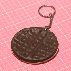 Chocolate Digestive Biscuit Keyring