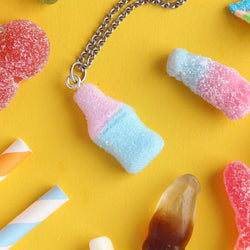 Fizzy Bubblegum Cola Bottle Necklace