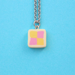 Odds and Sorts Battenberg Necklace