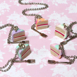 Odds and Sorts Cake Necklace