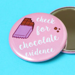 Odds and Sorts Chocolate Illustration Pocket Mirror