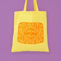 Odds and Sorts Custard Cream Biscuit Printed Tote Bag