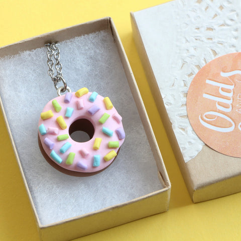 Odds and Sorts Pink Doughnut / Donut Necklace