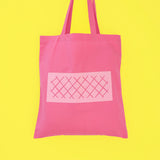 Odds and Sorts Pink Wafer Biscuit Printed Tote Bag