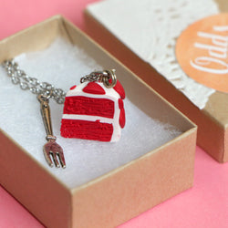 Odds and Sorts Red Velvet Cake Necklace