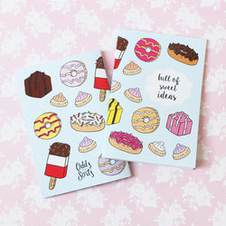 Odds and Sorts Sweet Illustrated Notebook