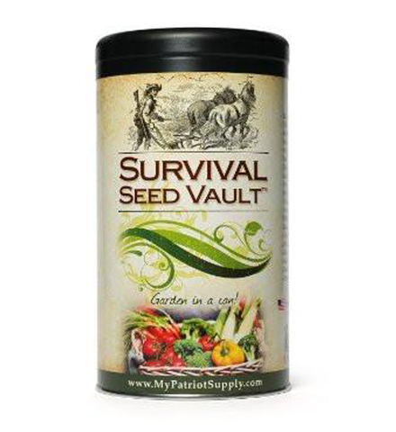 Survival Seed Vault 100% Pure Heirloom Seeds