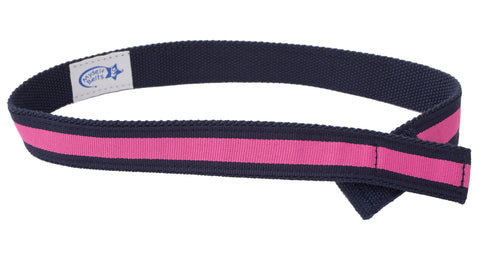 Navy/Pink Stripe Ribbon