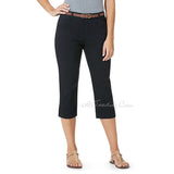 Bandolino Women Belted Maureen Stretchy Classic Capri Length Pants 3 colors