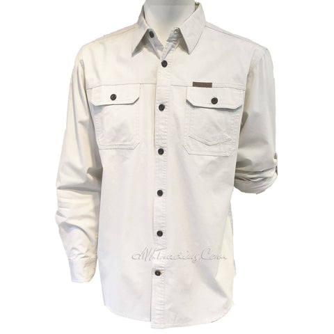 FIELD & STREAM Brushed Poplin 100% Cotton Long Sleeve Utility Shirt