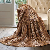 "Luxury Throw Faux Animal fur Print Super Soft Warm Oversize 60x70"" Blanket"