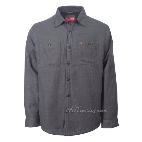 Coleman Men's Classic Fit Warm Sherpa Lined Flannel Shirt Jacket MSRP $100
