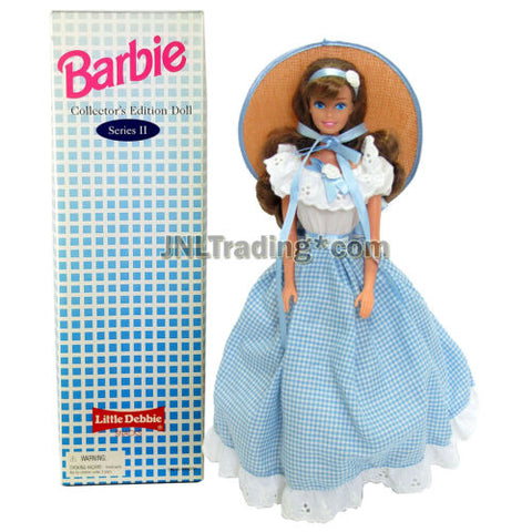 "Year 1995 Barbie Collector 12"" Doll - LITTLE DEBBIE in Blue White Checker Dress"