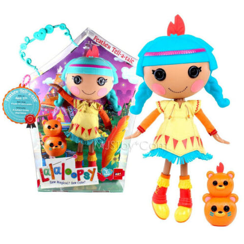 "NEW HOT Lalaloopsy 12"" Tall Button Rag Doll Feather Tell-a-tale+ pet Totem Bears"