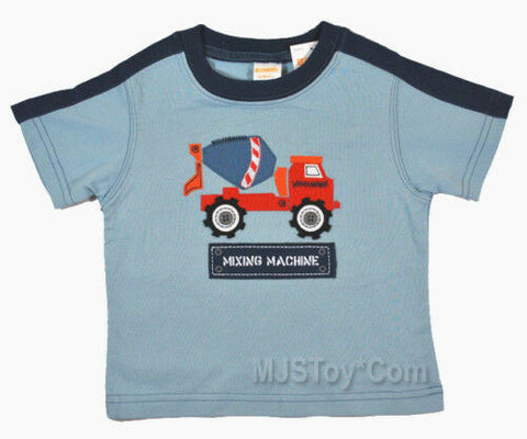 NWT GYMBOREE Mixing Machine Mixer Truck T-Shirt 12-18M