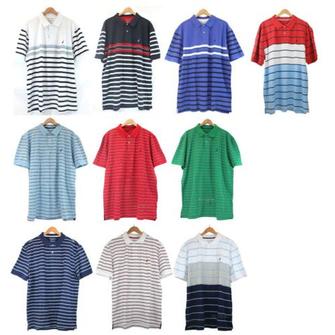 NWT Nautica Big&Tall Short Sleeve Stripe Breathable Performance Polo Shirt $69