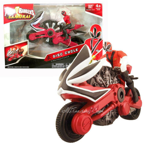 NEW Bandai Power Rangers Samurai Action Vehicle Set FIRE DISC CYCLE Red Figure