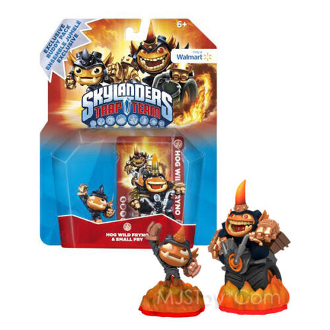 NEW HOT Skylanders Trap Team Hog Wild Fryno & Small Fry Figure 2 Pack EXL RARE